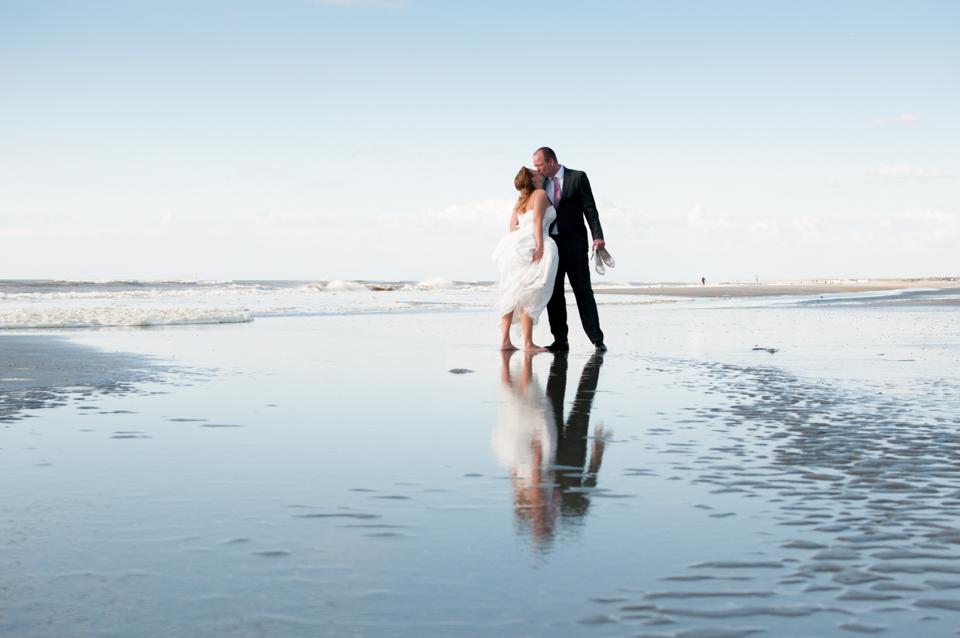 Trouwfotografie bruiloft op het strand van hoek