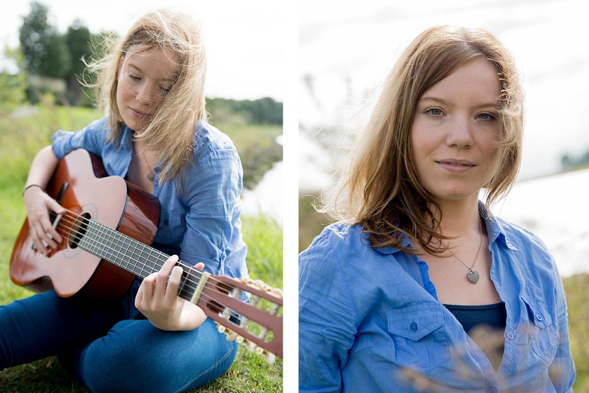 Fotoshoot met gitaar