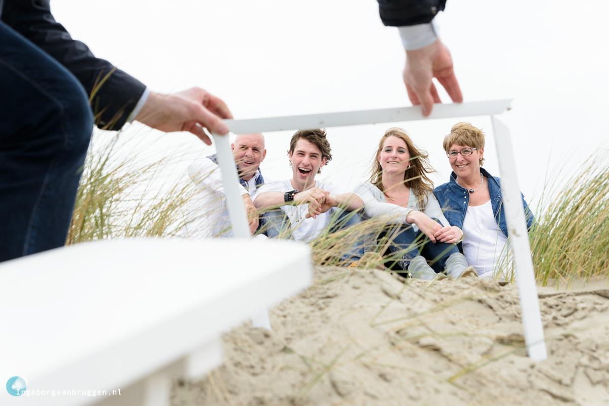 Familie shoot op strand Hoek van Holland