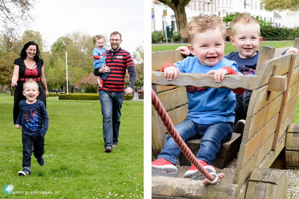 Familieshoot met kinderen in de speeltuin-1