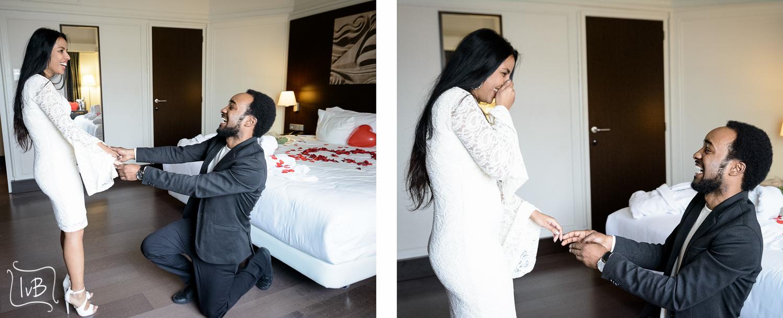 Huwelijksaanzoek tijdens fotoshoot