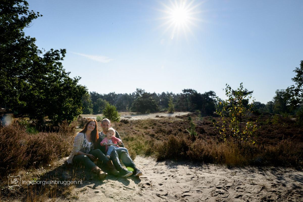 gezinsshoot bos en heide