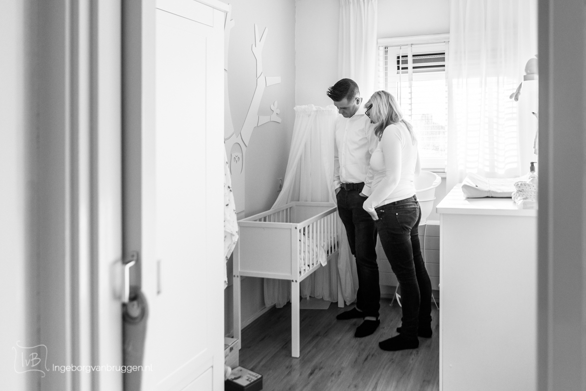 Lifestyle newborn fotoshoot