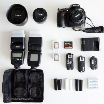 De uitrusting van een professionele fotograaf