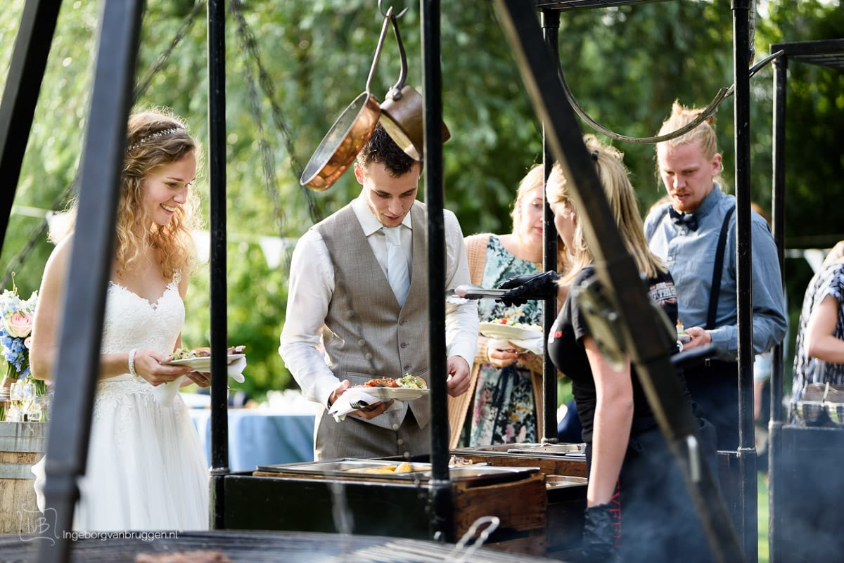 Fotografie diner bruiloft