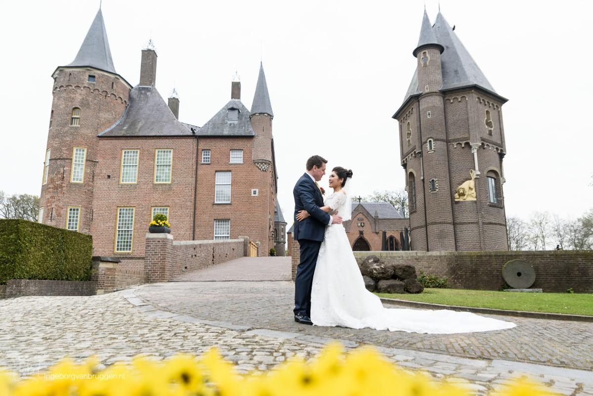 Fotoshoot in een kasteel