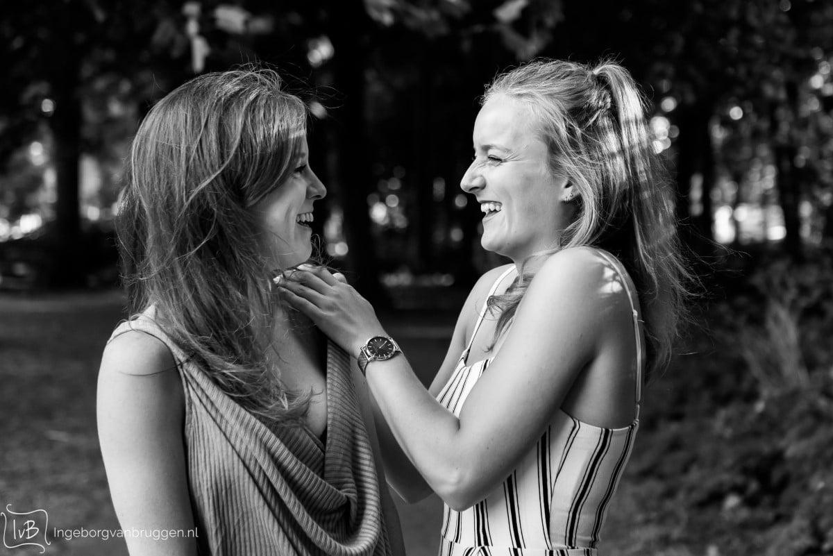 Fotoshoot voor zussen