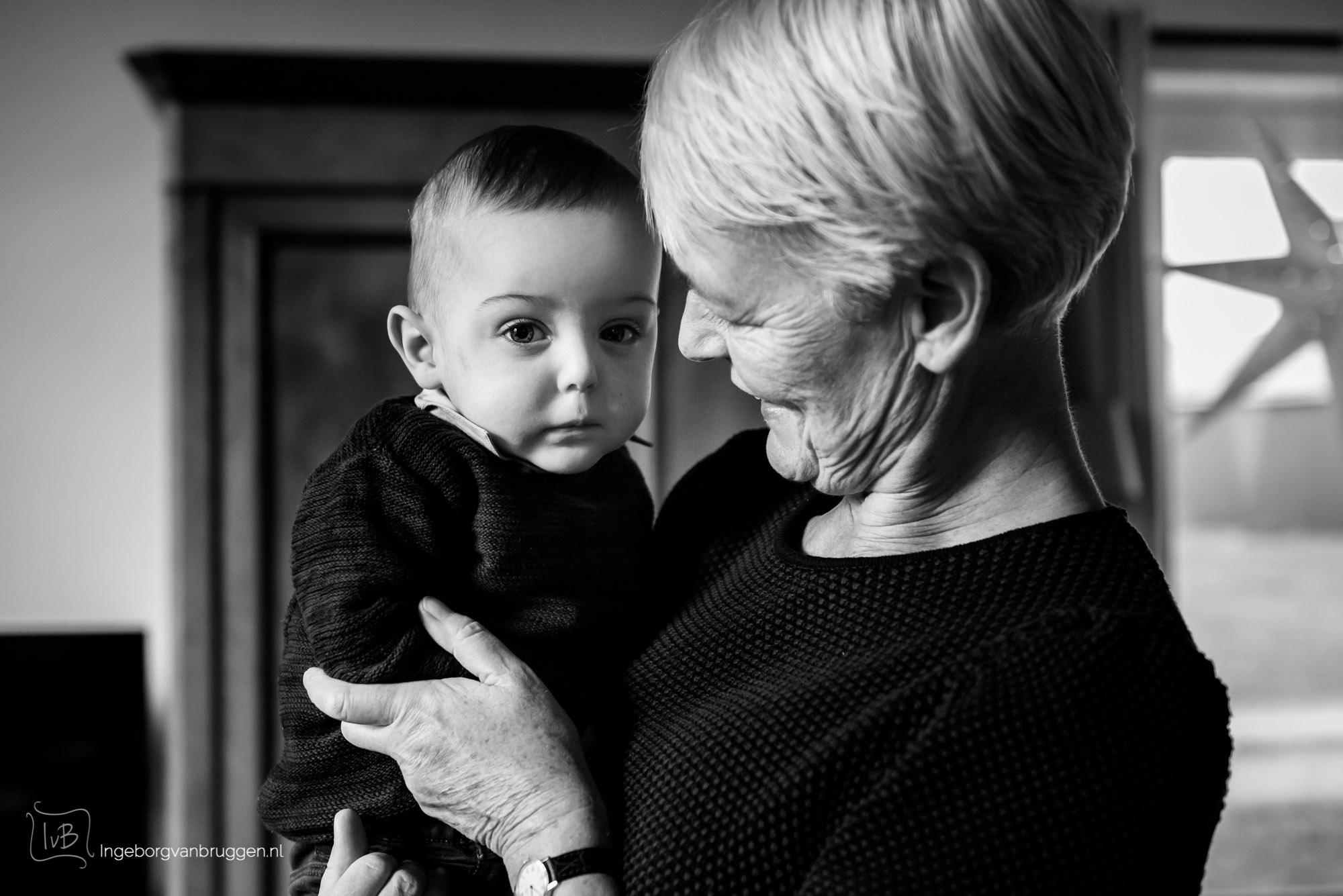 Fotoshoot met opa en oma