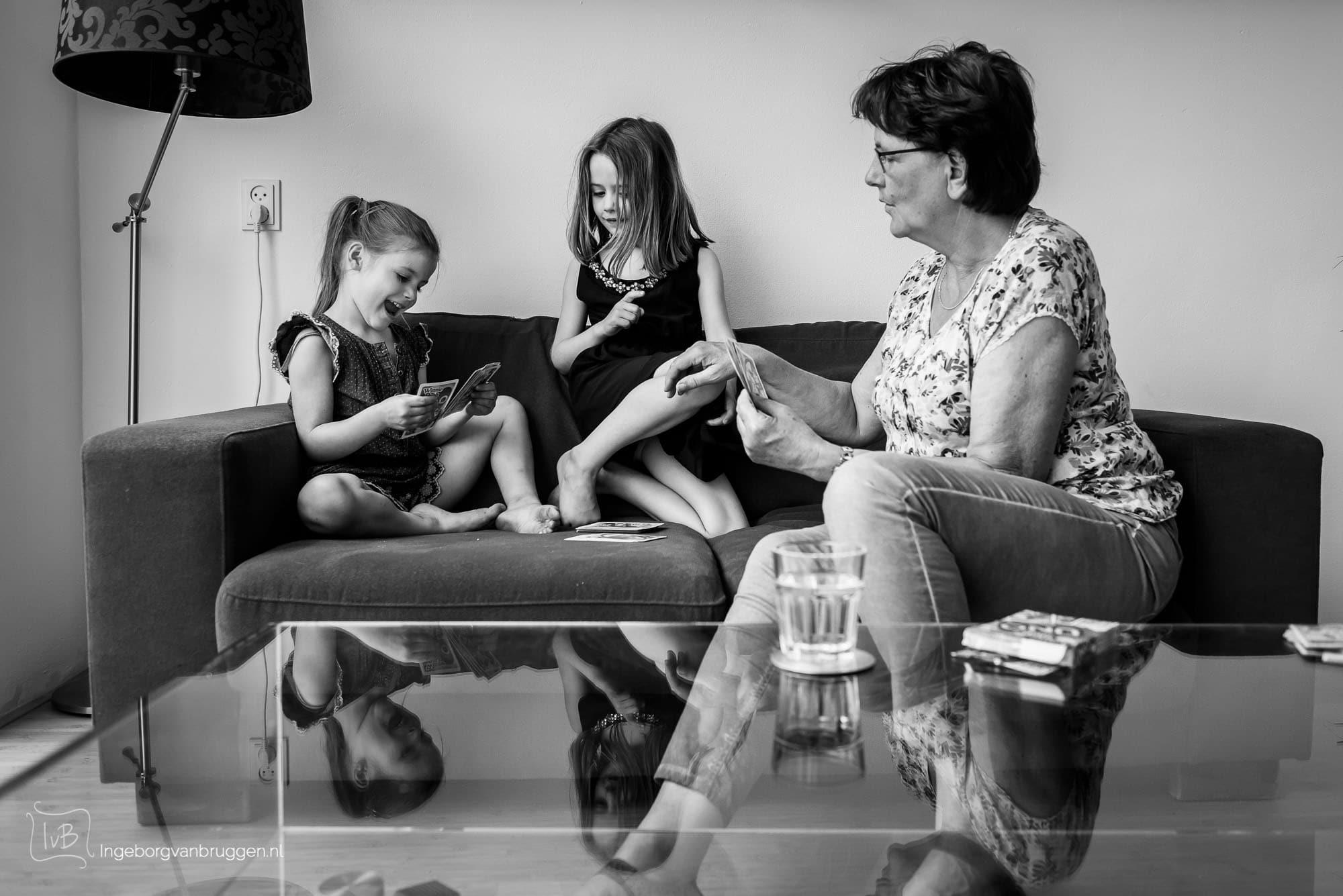 Zwart wit familie fotoshoot
