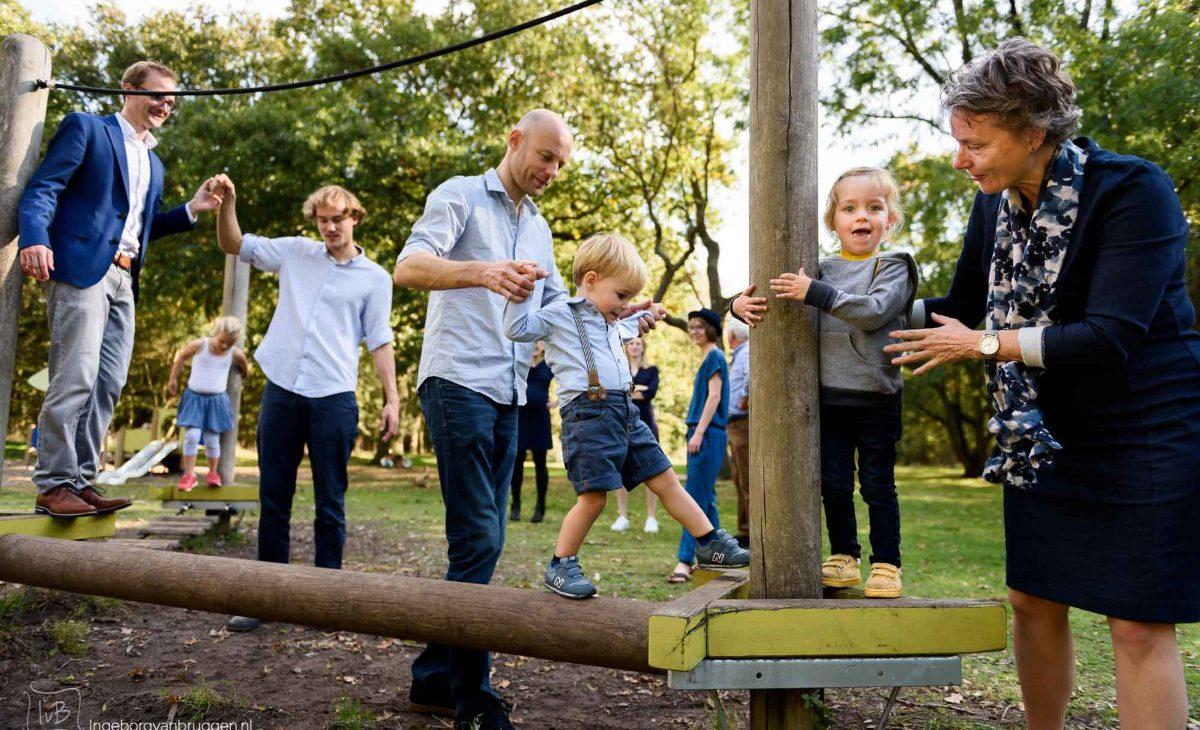 Fotoshoot in het park
