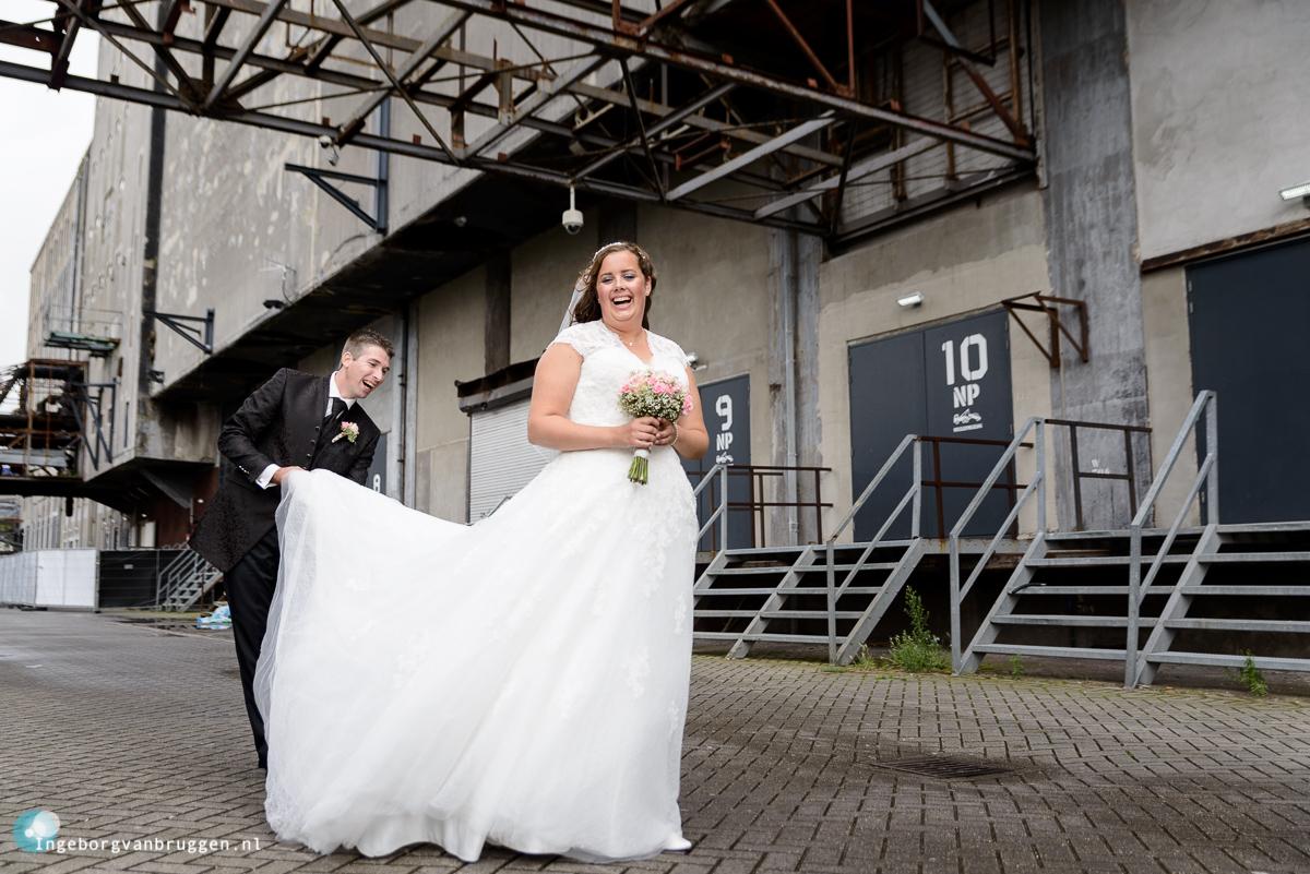 Bruiloft industriële sfeer
