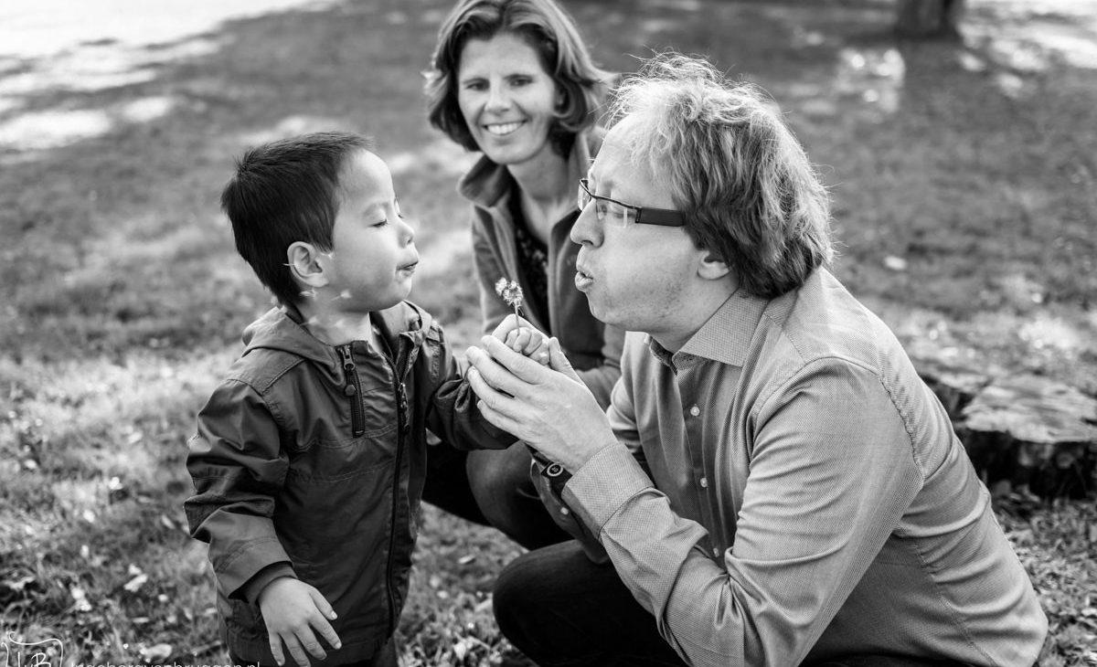 Fotoshoot van een adoptie