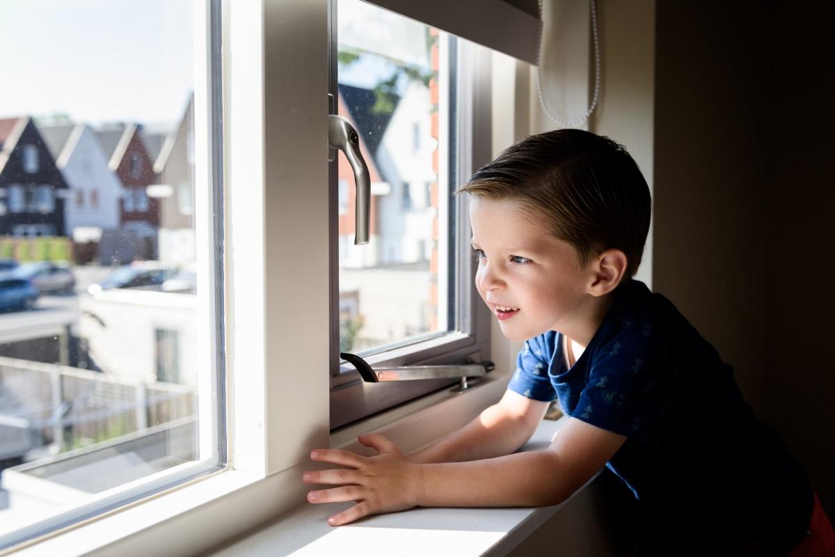 Fotoshoot van een jongen