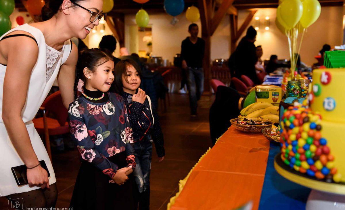 Fotoshoot van een verjaardagsfeest