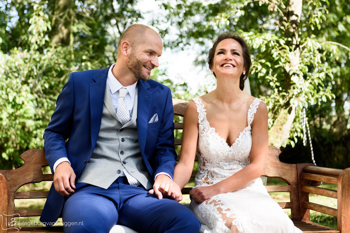 Fotoshoot van het bruidspaar