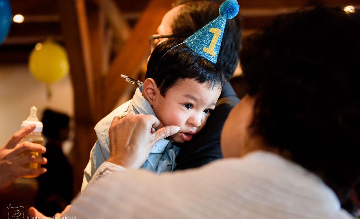 Verjaardag baby van 1 jaar fotoshoot