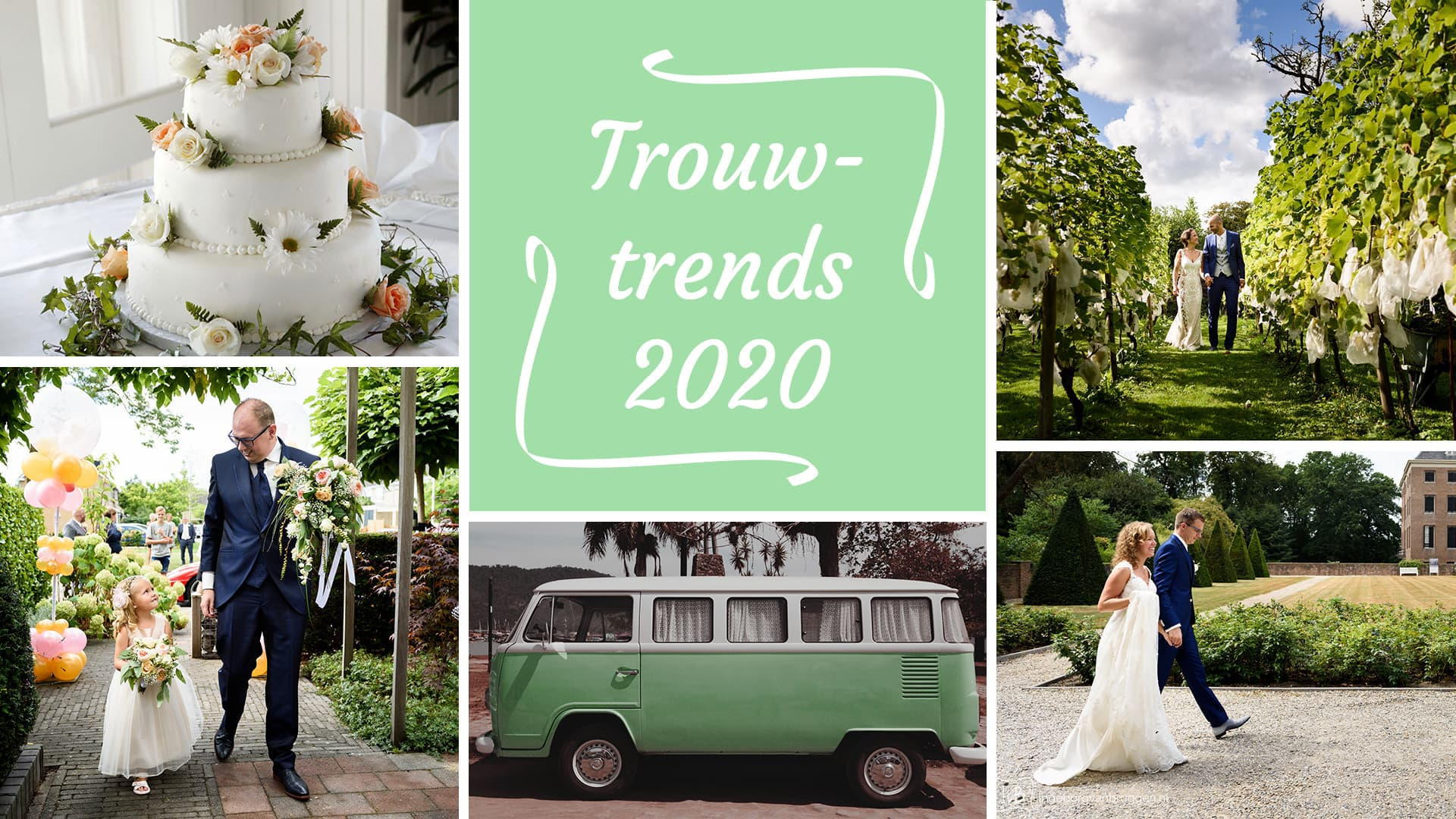 Trouwtrends collage 2020